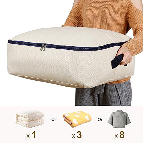 Lifewit Sac de Rangement Housse en Tissu Pliable Taille Ultra pour Literie Couette Couverture Oreiller Vêtements (50L 57x42x21cm)