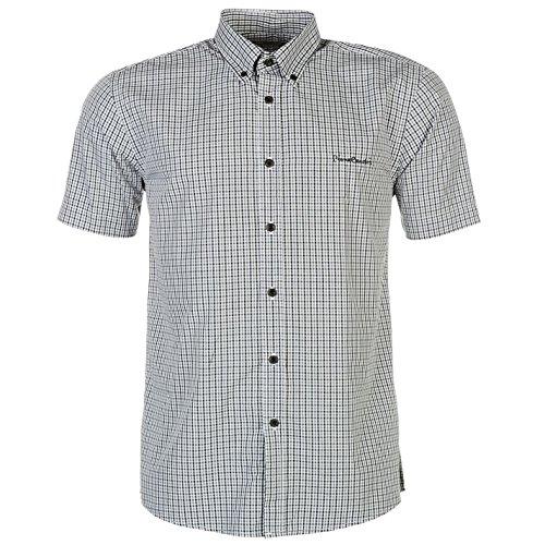 Pierre Cardin Herren Kurzarm Shirt Knopfverschluss All Over Muster Hemd XXXL