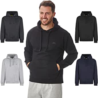 Iron Mountain Mens Soft Fleece Pullover Hooded Hoodie, Reclaimed Yarn Eco Friendly Top