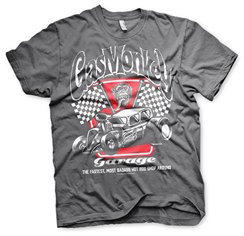 Foto de Gas Monkey Garage T-Shirt Badass Darkgrey-S