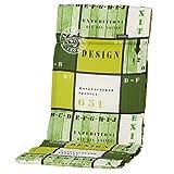 6 Hochlehner Auflagen 123 x 50 x 3 cm Madison Fiber de luxe Tom lime Gartenpolster