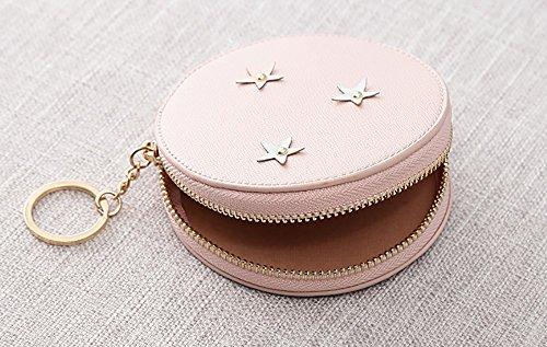 CLOTHES- Sacchetti di borsa della borsa della moneta del raccoglitore delle ragazze delle ragazze delle signore Sacchetto della moneta della Corea del Giappone e della Corea del Sud ( Colore : Rosa ) Rosa