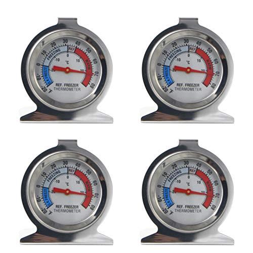 LIOOBO estilo línea acero inoxidable 4 piezas termómetro