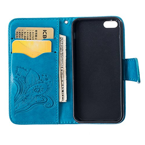 Sunroyal® Custodia per Apple iPhone 6 plus / 6S plus 5.5, Portafoglio Wallet Flip Libro Dipinto Case Cover in PU pelle Borsa Chiusura Magnetica Shock-Absorption Ultra Slim TPU Silicon Gel Protezione  Pattern 01