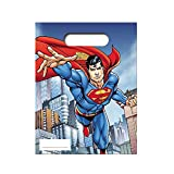 Unique Party Superman Childrens/Kids Official Party Bags (Pack of 6) (One Size) (Blue/Red)