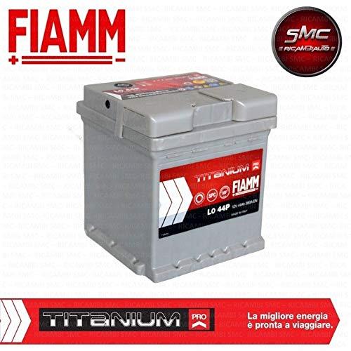 Fiamm Titanium Plus L044+, batteria per automobile, 44Ah, 390A, polo positivo a dest