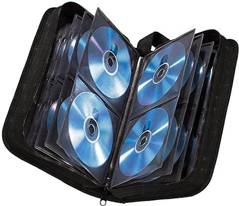 Hama Étui CD pour 120 CD / DVD / Blu-ray, classeur de rangement, noir
