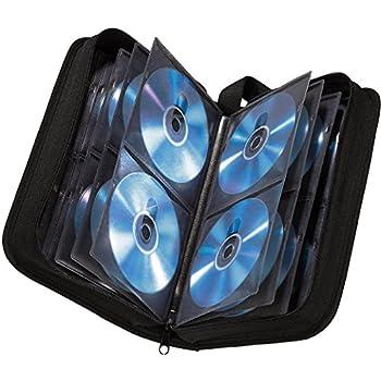 Hama CD Tasche (für 64 CDs/DVDs/Blu-rays, Mappe zur Aufbewahrung) schwarz