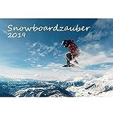 Snowboard magia · DIN A4· PREMIUM Calendario 2019· Sport · wanderung · escursionismo attrezzature · · Gipfel · gebirge · · besteigung · Alpino Snowboard · Set Regalo con 1biglietto d' auguri e 1scheda · Edition Anima magia di Natale
