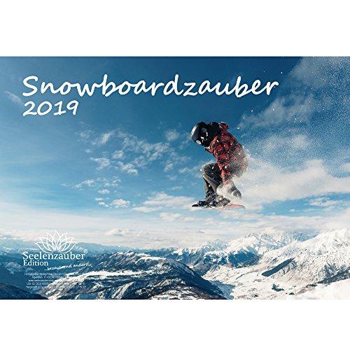 Snowboard magique–Format A4–Premium Calendrier 2019–Sport–Randonnée–Randonnée–Équipement–Sommet–Montagne–Alpin–besteigung · Snowboard–Coffret cadeau avec 1carte de vœux et 1carte de Noël–Édition âme magique