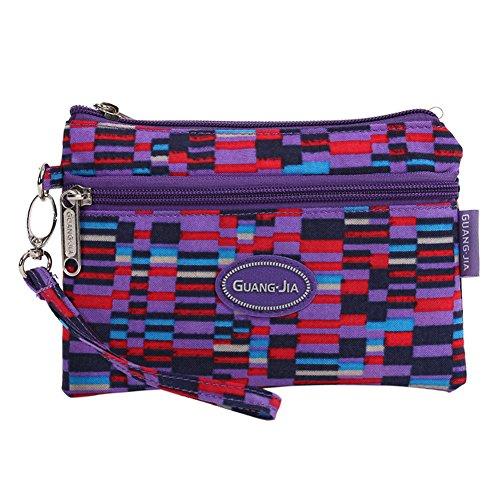 Sacchetto impermeabile/Frizione del polso casual Ladies/ borse di nylon piccolo/ il portafoglio in (Ricamato Floreale Frizione)