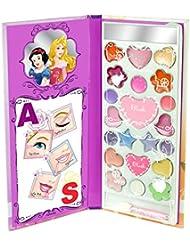 Disney Princess / Prinzessinnen: Magisches Beauty-Book + Make-Up (Lidschatten, Lipgloss, Rouge)