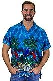 Funky Camicia Hawaiana, Parrot, turchese, 3XL