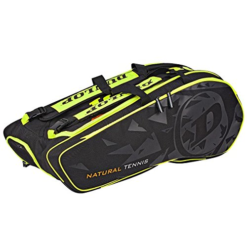 Dunlop NT 12-Racket Bag Tennistasche schwarz gelb -