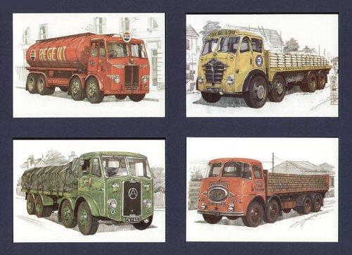 British LKW 1950er–Atkinson–bow-front, ERF–KV, Leyland Octopus, Foden–FG/FE–Art Postkarten (Front Guide Plate)