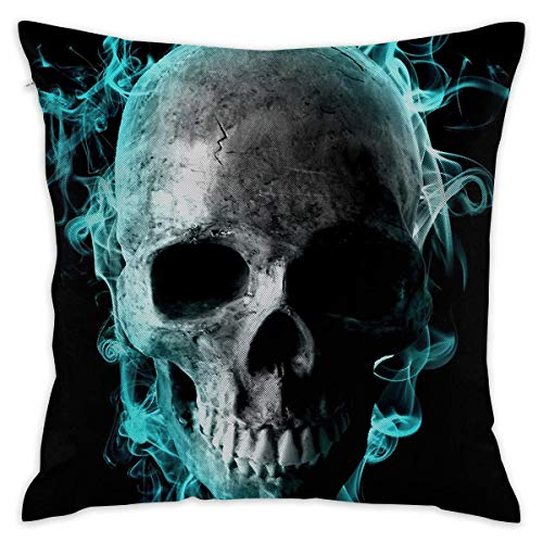 Klotr federe cuscino divano, 18x18 inches square throw pillow covers blue fire print pillow cushion cases for couch sofa bed