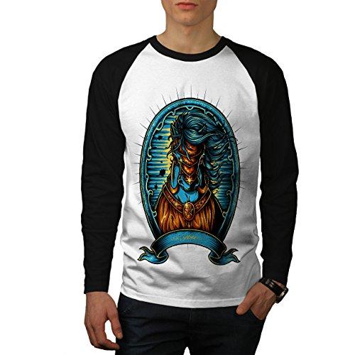 Fantasie Zucht Pferd Tier Herren M Baseball lange Ärmel T-Shirt | Wellcoda (Alligator Ärmel Lange)