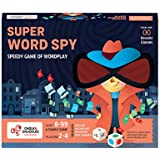 Chalk and Chuckles Super Word Spy - Fun Family Word Game, Kids and Adults Age 8 and Up (8-99 Yrs), Educational Board Games for Girls, Boys 10 Years