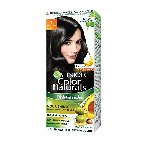 Garnier Color Naturals Shade 1 Natural Black, 60ml + 50g