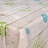 ANRO Wachstuchtischdecke Wachstuch Wachstischdecke Tischdecke abwaschbar Industry Style Fresh Holz 160 x 140cm, Mehrfarbig