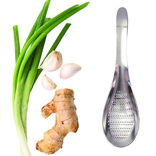 MMRM Acero inoxidable en forma de cuchara Triturar Grind jengibre Wasabi ajo Rallador