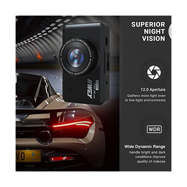 Dash Cam Front and Rear Camera FHD 1080P with Night Vision and SD Card Included, 3 Inch IPS Screen Dash Cam for Cars, 170°Wide Angle Dashboard Camera DVR Motion Detection Parking Monitor G-Sensor HDR 6