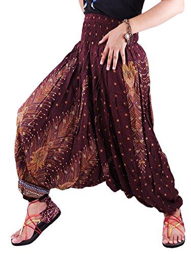 jep01-hippy-hippie-boho-festival-peacock-genie-aladdin-harem-pants-trousers-jumpsuit-brown