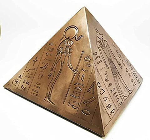 ANCIENT EGYPTIAN GODS AND DEITIES PYRAMID CREMATION URN FIGURINE FUNERAL SUPPLY by Gifts & Decors