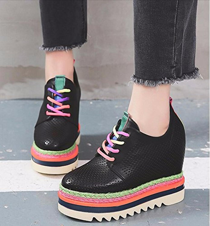 GTVERNH Chaussures pour femmes/Respirable Creux Haute Des À L'Intérieur Des Haute Chaussures De Femme Je Plaisante Du Printemps...B07DHFM2CZParent b53a3d
