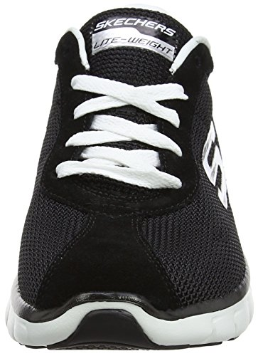 Skechers Damen Synergy-Case Closed Laufschuhe Schwarz (Black/White)