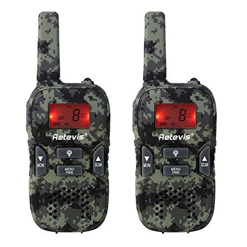 Retevis RT33 PMR Funkgerät für Outdoor-Reisen und Kinder mit LC-Display (1 Paar Tarnfarben)