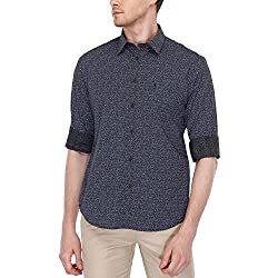 Indian Terrain Mens Slim Fit Casual Shirt (ITMSH00299-8907633831525_Black_Medium)