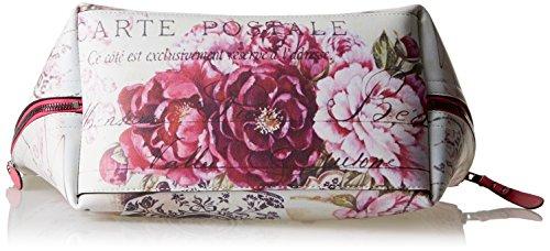 YNOT K-45, Borsa Tote Donna, 38 x 28 x 19 cm (W x H x L) Multicolore (Rose-Cool4)