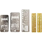 5 PCS Metal Multi funcional dibujo plantilla regla plantilla para Agenda Planner revista Scrapbook horario libro diario