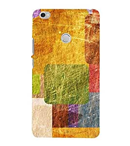 HiFi Designer Phone Back Case Cover Xiaomi Mi Max :: Redmi Max :: Xiaomi Mi Max ( Colorful Yellow Green Blue Pattern Design )