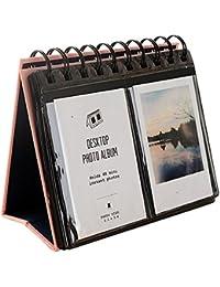 Urvoix 68Álbum de fotos para escritorio, tamaño mini para películas de Fujifilm Instax Mini 8,7s, 25,50s, 90,tarjeta de visita, color rosa