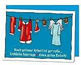 XL Weihnachtskarte zum Danke sagen für ein erfolgreiches Jahr an Mitarbeiter Kunden Lieferanten Kollegen - inkl. Umschlag (DIN A5)