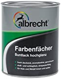 Albrecht Farbenfächer Buntlack hochglanz RAL 7035 2,5 L, grau, 3400505800703502500
