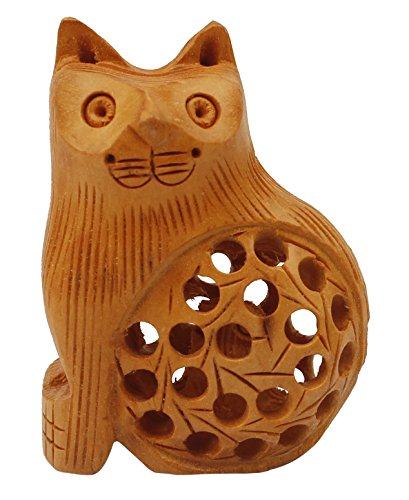 souvnear-cute-cat-figurine-wood-statue-handmade-brown-sculpture-of-lazy-cat-with-baby-inside-souvnea