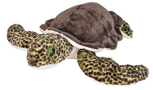 Wild Republic 21653 Plüsch Schildkröte, Cuddlekins Kuscheltier, Plüschtier 30 cm, braun-grün
