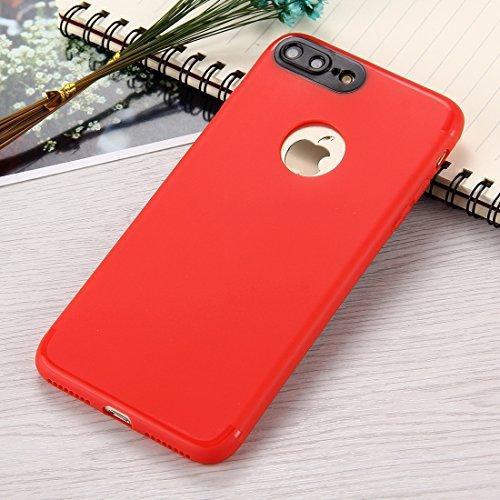 Wkae Ultra-dünner TPU mattierter schützender rückseitiger Abdeckungs-Fall für iPhone 7 Plus ( Color : Dark blue ) Red