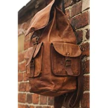 Original Leather Classy Bags 16'' Retro/Vintage Dapper Sailor Rucksack/Backpack/Bag/Bags For Men/Women/Boys/Girls/Male/Female Branded For School/College/Office/Casual/Daily Use/Gift By Znt Bags 556
