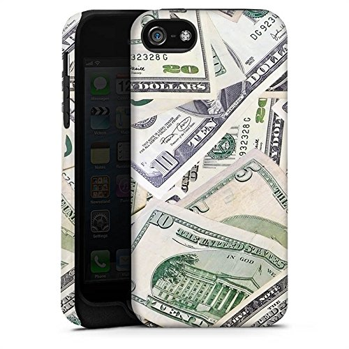 Apple iPhone X Silikon Hülle Case Schutzhülle Geld Dollar Scheine Tough Case matt