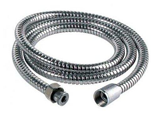 Generic cromato in acciaio inox con 2,5 m di tubo in PVC flessibile senza torsione tubo flessibile doccia bagno