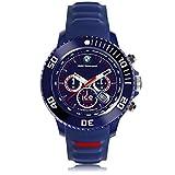 Ice-Watch Bmw Motorsport Orologio da Uomo Cronografo al Quarzo con Cinturino in Silicone – 001474