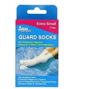 AquaSafe Verruca Guard Socks for Swimming - Extra Small - Child Size 9 - 12