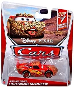 Disney Pixar Cars 2 Nature Drive Lightning Mcqueen - Voiture Miniature Echelle 1:55