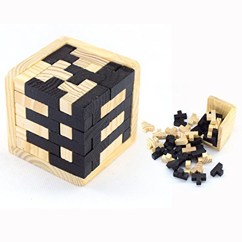 Cisixin Cubo 3D Rompecabezas Madera Juego Puzzle