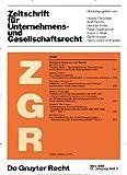 Zeitschrift für Unternehmens- und Gesellschaftsrecht [Jahresabo]