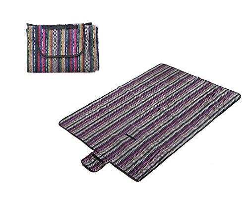 Honeystore 200*150 Polyesterfaser Yoga Matte Strand Ausflug Picknickdecke mit wasserabweisender Unterseite Mehrfarbig-01